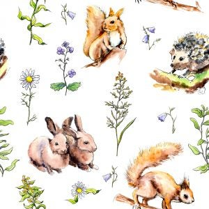 Woodland animal motifs usually display darker colors which look great with light and neutral tones.