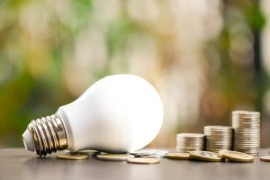 The LED light bulb can help lower your electricity bill.