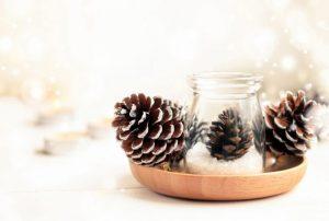 Use pine cones to create a beautiful fall centerpiece.