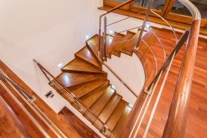 Metal banisters can help make your home seem brighter and more spacious.