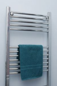 Towel racks come in many different forms and are a great way to keep your bathroom organized.