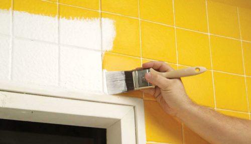 Bathroom tiles color