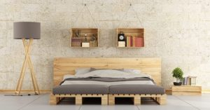 Using wooden pallets to make minimalist beds is a really wonderful look.