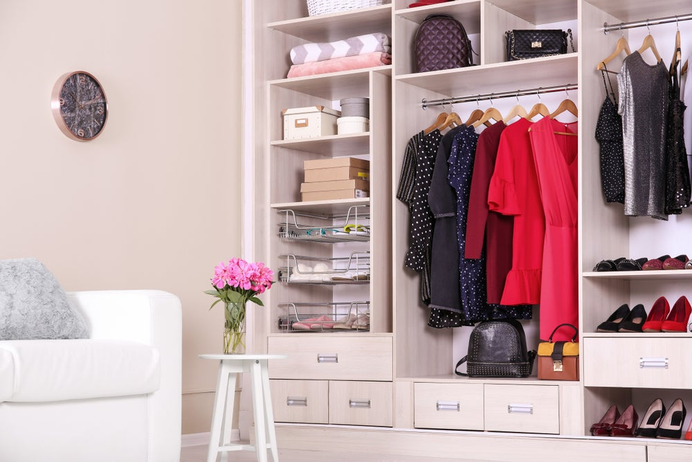 Most people have too many clothes in their closet.