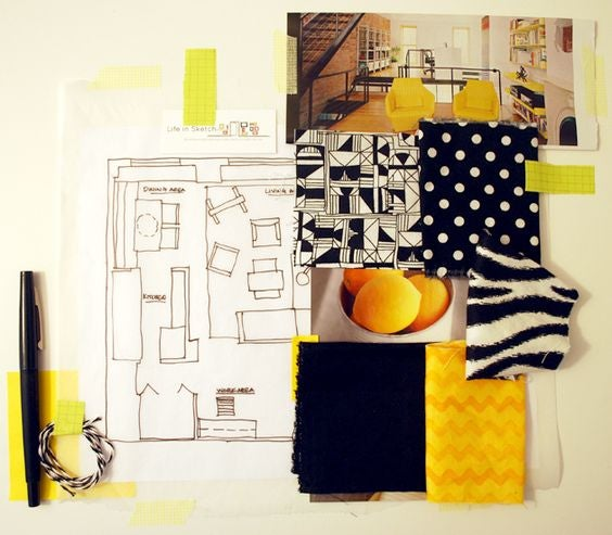 Design mood boards can help inspire new projects.