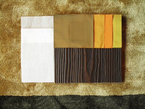 Using fabric samples for design mood boards can help give the design more direction.