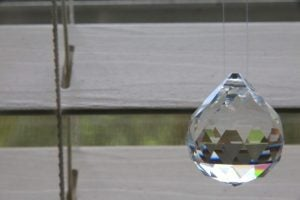 Feng Shui crystals come in many different shapes and sizes, from octagons to teardrops.