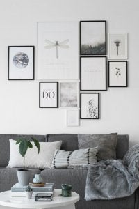 Make sure you choose frames that work well with the rest of your decor.