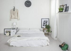 Minimalist beds should match the decor in the rest of the room.