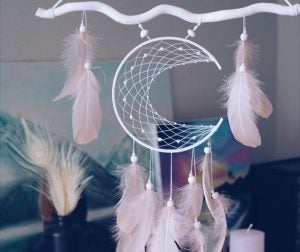 Crescent moon dreamcatchers are some of the most popular designs.