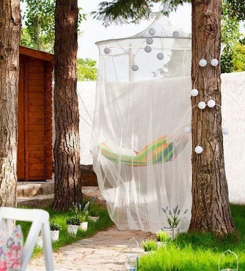 Mosquito net lights