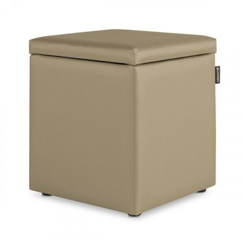 Tan square box with a lid