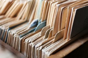 Organizing documents can help create order from chaos.