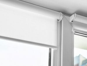 Roller blinds are great kitchen blinds, as you can roll them up to stop them getting dirty.