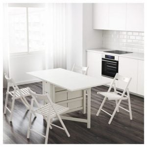 There are lots of space-saving table designs that are perfect for a small dining room.