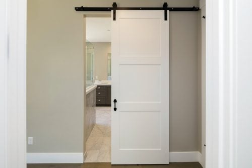 Use sliding doors to create a moveable separator to divide areas of the home