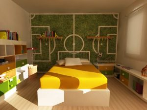 sporty decorations for a girl's bedroom