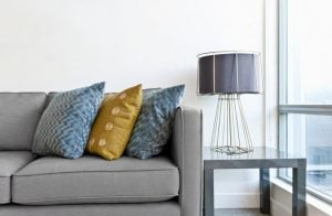 Place your decorative table lamp in your living room where everyone can see it.