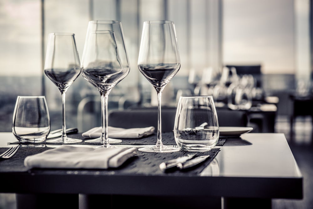 Choosing the right glass to set a table is important.