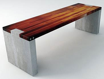 This timber and cement seat could go great as an option for seats for decorating entry halls
