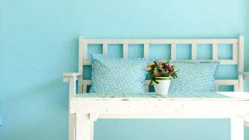 Blue is the perfect color to add tranquility and peace to your home when spring decorating