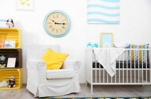 wall clock in a kid's bedroom