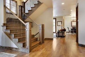 Wood and forged iron banisters are great for adding that rustic touch to your home.