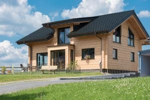 Prefabricated houses are usually made from one main material, such as concrete, wood or steel.
