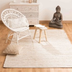 Beige rug for living room