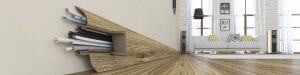 baseboard electrical cords