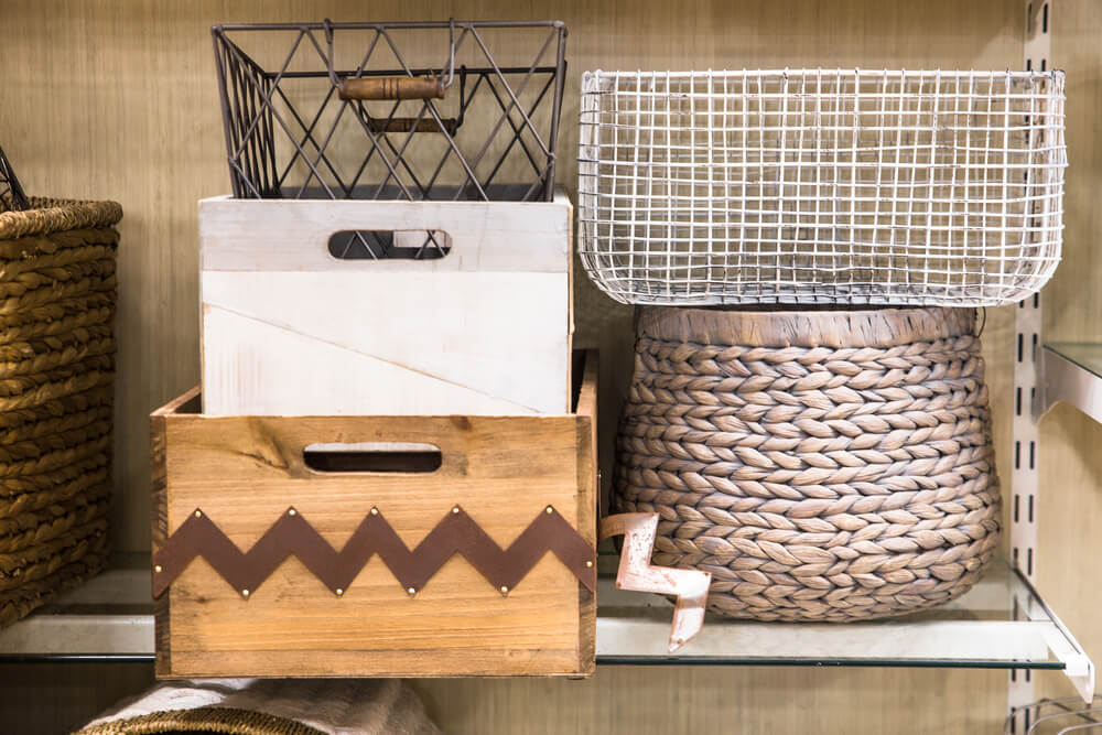 room baskets for space