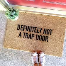 doormat with message