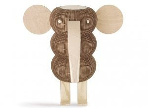Wood veneer lamps also come in charming animal designs.