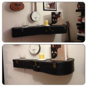 how to use a guitar to decorate a wall