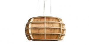 Veneer wood lamps can come in all sorts of wonderful shapes.