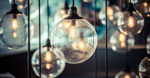 Use decorative light bulbs with illuminated filaments