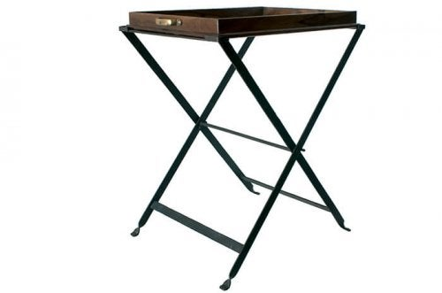 Metal tray tables are very practical and long lasting
