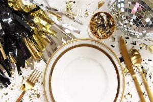 nordic New Year's Eve table