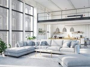Stylish open-plan space