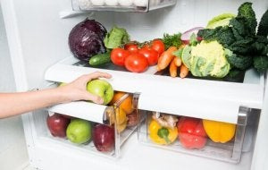 Vegetables should go in the lower section of your refrigerator.