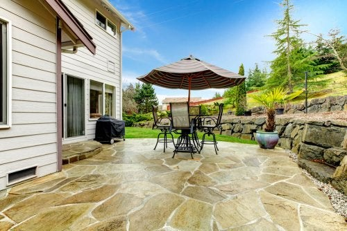 Stone flooring for your patio is a beautiful and long lasting option