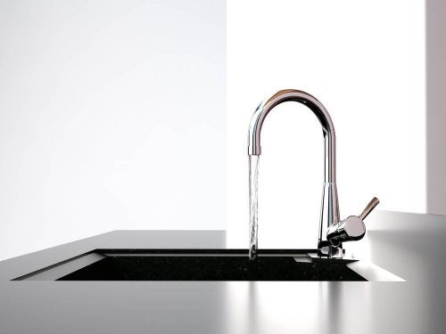 A Kitchen Faucet as a Decorative Item