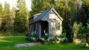 tiny house in the garden