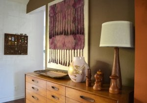 wall attached tapestry