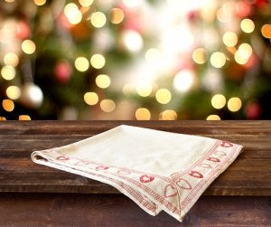 Festive napkins are a nice, understated touch for your Christmas decor.