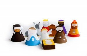 Even the simplest objects can be used to make a really fun nativity scene.