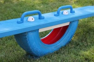 You can even make your own DIY teeter totter for your playground.