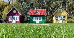 three tiny homes