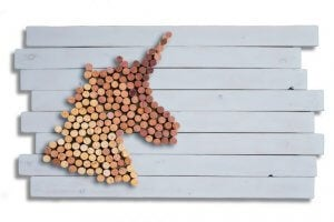 unicorn made out of corks
