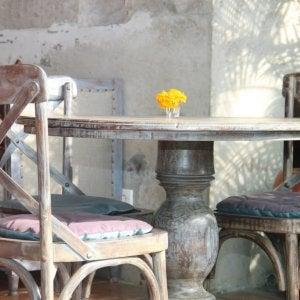 vintage, worn table